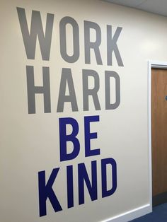 Large work hard wall graphic motivational office decal #workhard #graphic