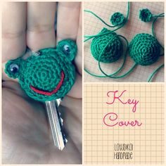 Key Cover all'uncinetto.. Crochet Key Cover..