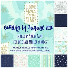 COMING SOON-Fabric Bundle-Magic by Sarah Jane-Michael Miller Fabric-Cotton Fabric by the Yard-Quilt Fabric-Sewing Fabric-Fat Quarter Bundle by BrewStitched on Etsy