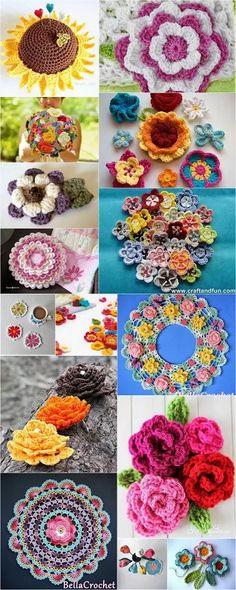 crochet-flowers-patterns-plans