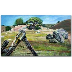 Trademark Art Nicasio Fence Post Canvas Art by Colleen Proppe, Size: 18 x 32, Multicolor