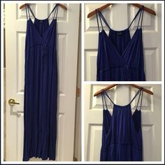 """Maxi Dress [Royal Blue] Soft rayon jersey fabric.  Measures 45"""" from waistband to bottom. Never been worn, the size and care tag was removed but it is a size XL. Dresses Maxi"""
