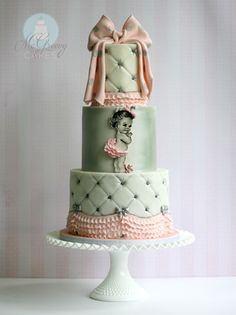 Another great tutorial by McGreevy Cakes. Tufted Cake