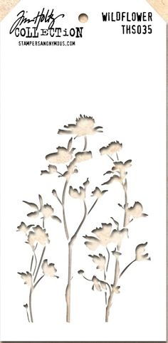 Tim Holtz Stencil THS035 Wildflower