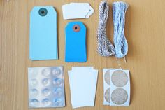 "Mini Gift Wrap Kit / Scrapbooking Kit - ""Winter Chill"" on Etsy"