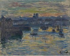 Port of Dieppe, Evening.  Claude Monet. 1882.  #claudemonet #france #dieppe #normandy