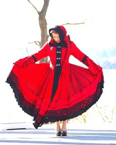 Custom Recycled Sweater Coat with a Medieval Liripipe Hood and Bell Sleeves by SnugglePants- The Merovingian. $528.00 USD, via Etsy.    I know I'm crazy for wanting this when I live in South Texas, but I don't care. WANT.
