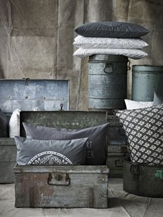 Mixing soft furnishings with metal