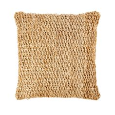 Woven Jute Cushion on Maisons du Monde. Linen Corner Sofa, Linen Sofa, Sun Lounger Cushions, Sofa Pillows, Throw Pillows, Deco Jungle, Nautical Bedroom, Quilted Bedspreads, Lantern Candle Holders