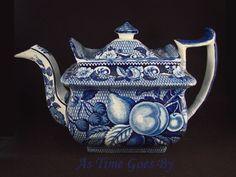 Staffordshire Blue and White Teapot - circa 1830's