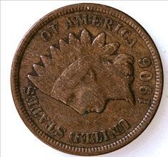 1906 Indian Head One Cent Coin - FULL LIBERTY - Excellent Grade - Coins - Coin Collection - Copper Coinage - Christmas Gift - Penny by EarthlyCrystals33 on Etsy