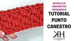 PUNTO CANESTRO (a PANNELLO e in TONDO) - Scuola di Uncinetto EP.#6 ● Kat...