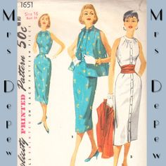 Vintage Sewing Pattern Button Front Dress Simplicity by Mrsdepew, $35.00