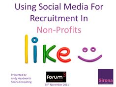 Using Social Media for Recruitment in Non-Profits, curated by www.sociallybuzzing.com