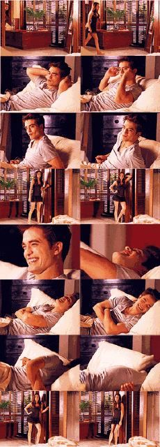 honestly I love this scene. this very well may be my favorite scene in the entire movie. it highlights edward's glee and Bella's desperation for him to have sex with her again. it's wonderful. it shows the edward Robert pattinson is with the grin you see spread across his face. it proves that rob was exactly right for the part and Bella as well. they work so well together and I just think it's absolutely beautiful.