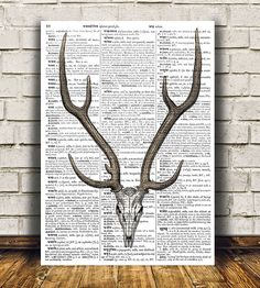 Lovely Skeleton print. Cute Anatomy poster. Nice modern Macabre print. Beautiful Animal skull art for your home and office. SIZES: A4 (8.3 x 11)