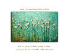 Decoración+de+jardín+poster+impresión+Interior+azul+por+Artcoast