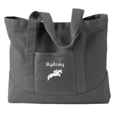 Personalized Horse Tote with name  Equestrian Tote Bag  6