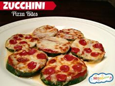 zucchini pizza bites low carb gluten free via MOMables.com