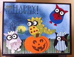 posted by Laura France at facebook page Stampin Up Addicts. Uses stampin up owl punch
