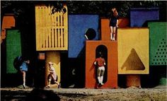 Pepsi-Cola Playground, New York, U.S.A.  Designed by Jerry Lieberman