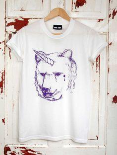 Unicorn Bear T-shirt. £18.00, via Etsy.