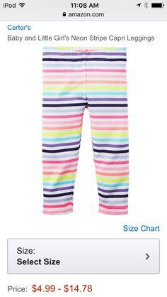 Carter's - Baby and Little Girl Rainbow Striped Leggings