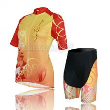 New Cycling Bike Short Sleeve Sports Clothing Bicycle Women Suit Jersey + Shorts