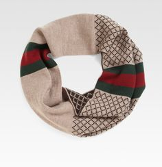 Gucci Scarf | Gucci Diamante Pattern Ring Scarf in Brown for Men - Lyst