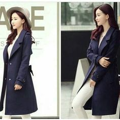 Aqella Blazer Harga : Bahan : fleece All size fit L Go Store, Blazer, Navy, Korea, Coat, Jackets, Centre, Style, Fashion