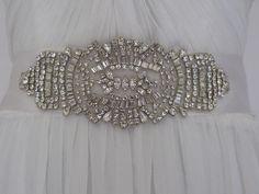 Jewelled bridal belt or crystal sash - Aphrodite. £180.00, via Etsy.