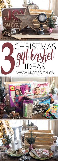 Need last minute Christmas gift ideas? How about 3 different Christmas gift basket ideas that people will actually love? MichaelsMakers AKA Design Source by Last Minute Christmas Gifts, Cheap Christmas Gifts, Christmas Gift Baskets, Homemade Christmas Gifts, Homemade Gifts, Christmas Diy, Xmas Gifts, Diy Gifts, Dyi Gift Baskets
