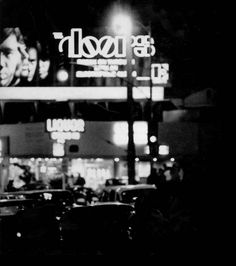 The Doors billboard on Sunset Boulevard