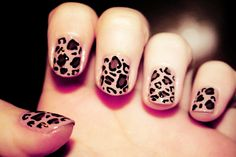 Leopard nails. Love