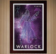 Destiny: Warlock Class - Constellation Poster - 11x17 by KnerdKraft on Etsy
