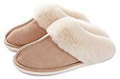 Donpapa Womens Slipper Memory Foam Fluffy Soft Warm Slip On House Slippers,Anti-Skid Cozy Plush for Indoor Outdoor Gifts For Nan, Indoor Outdoor Slippers, Cool Gifts For Women, Dog Walking, Best Mom, Womens Slippers, Mother Day Gifts, Memory Foam, Faux Fur