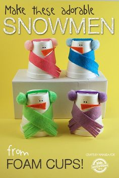 One of the best things to make during the winter months are snowman crafts. You can make almost anything into a snowman!