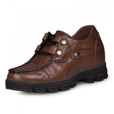 Look for best Latest style mens casual leather shoes 8cm / 3.15inches taller elevator shoes  with the SKU: MENJGL_B775 at Tooutshoes online store