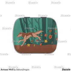 Autumn Wolf Jelly Belly Tins #wolf #wolves #autumn #fall #animals