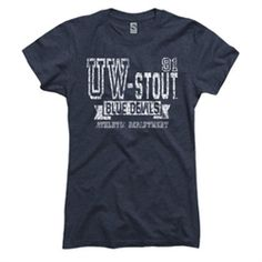 University of Wisconsin-Stout Blue Devils Ring Spun Tee