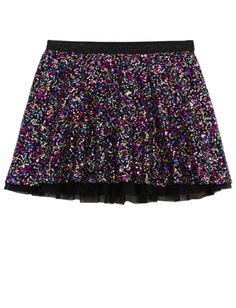 Allover Sequined Skirt | Girls Skirts & Skorts Clothes | Shop Justice