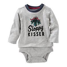 Baby Boy OshKosh B'gosh® Mistletoe Mock-Layer Bodysuit