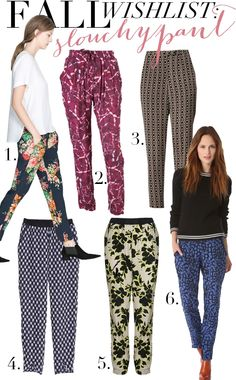 Slouchy pants for Fall