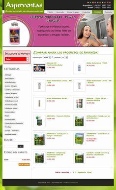 E-shop de productos de fórmula Ayurveda - Diseño y Desarrollo: http://integralmedia.com.ar