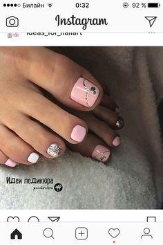 Pedicure Nail Art, Toe Nail Art, Mani Pedi, Love Nails, My Nails, Gel Toes, Wedding Nails Design, Toe Nail Designs, Pedicures
