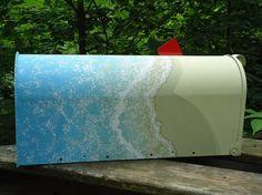 Beach Decor Handpainted Mailbox. Shell Mailbox by PatMcWhorter