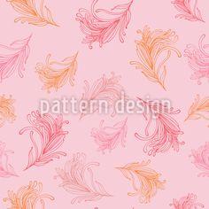 Federleichter Flug Nahtloses Muster by Svetlana Bataenkova at patterndesigns.com Vektor Muster, Surface Design, Baby Shower, Patterns, Cute, Poster, Kawaii, Babyshower, Block Prints