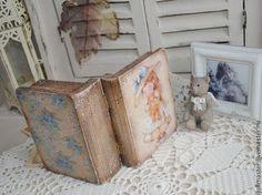 """Купить Книжка шкатулка """"Аришка и Мишка"""" - книжка, шкатулка, Декупаж, шкатулка декупаж, шкатулка деревянная"""