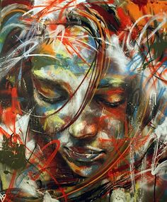 """Every next level of your life will demand a different you.""    ~  Leonardo DiCaprio   Artist:  David Walker Distorsion Urbana  ♥ lis"