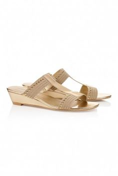 Studded elastic mini wedge at Long Tall Sally, your number one fashion retailer for tall womens clothing #tallgirl #tallwomen #tallfashion